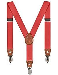 Tirantes Unisex Elásticos Adjustable Y-Forma Para Niños Niñas Con 3 Clips De 2.5cm Ancho Varios Colores