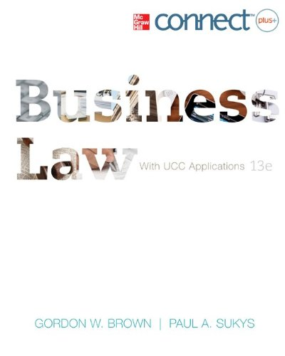 Business Law with Ucc Applications Student Edition; Cnct+