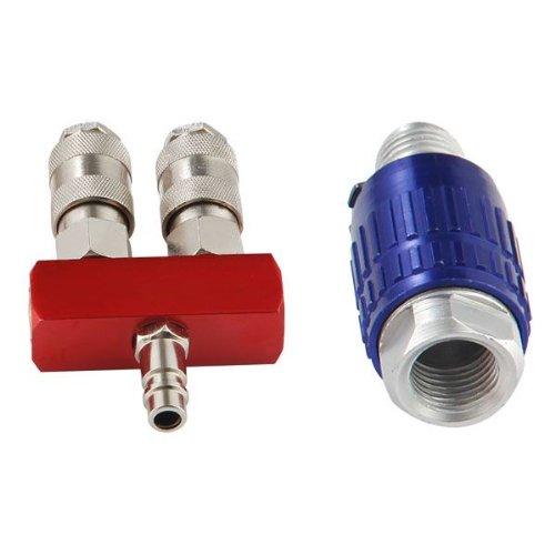 Kraft Druckluftschnellkupplung 2 Wege Anschluss Verteiler & Regulierung