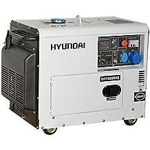 Generatore di corrente diesel 6,3 Kw HYUNDAI DHY8000SE silenziato