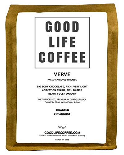 Good Life - Verve Organic Coffee | 500g Ground - Filter | Single Origin Specialty Arabica | Bulletproof Coffee | Fresh Roasted to Order | Paleo Approved  Good Life – Verve Organic Coffee | 500g Ground – Filter | Single Origin Specialty Arabica | Bulletproof Coffee | Fresh Roasted to Order | Paleo Approved 41kjZlZX5NL