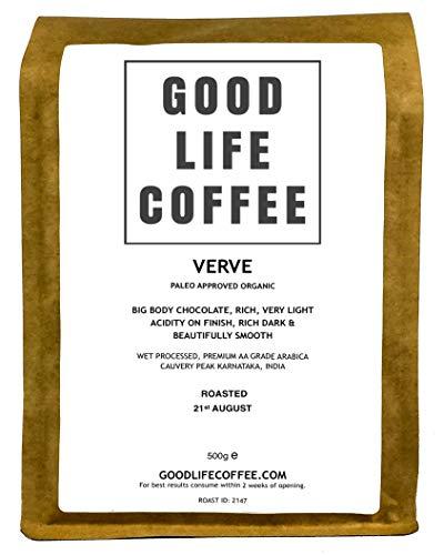 Good Life Verve Paleo Coffee 500g Ground Cafetiere Single Origin Specialty Arabica Bulletproof Coffee Beans Roasted to Order Great Taste Winner