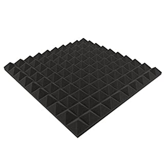 Akustikpur pyramid 4 pcs. approx. 49 cm x 49 cm x 4 cm acoustic foam, acoustic insulation, sound studio.