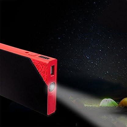41kjafMUJyL. SS416  - LPY-Arrancador portátil del salto del coche 60000mAh 12V 800A Ampere máximo, paquete del arrancador del salto del aumentador de presión de la batería del coche, banco del poder con la linterna de emergencia del LED