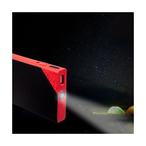 LPY-Arrancador portátil del salto del coche 60000mAh 12V 800A Ampere máximo, paquete del arrancador del salto del aumentador de presión de la batería del coche, banco del poder con la linterna de emergencia del LED