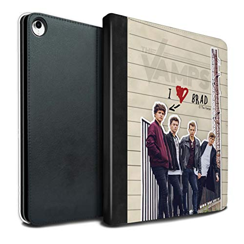 The Vamps PU Pelle Custodia/Cover/Caso Libro per Apple iPad PRO 12.9 2018/3rd Gen Tablet/Brad Diario Segreto Disegno