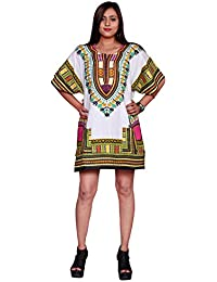 346a7c1dbfe569 African Printed White Top Poncho Shirts Kaftan Tradictional Ethnic Tops  Cotton Women Dashiki Tribal T-