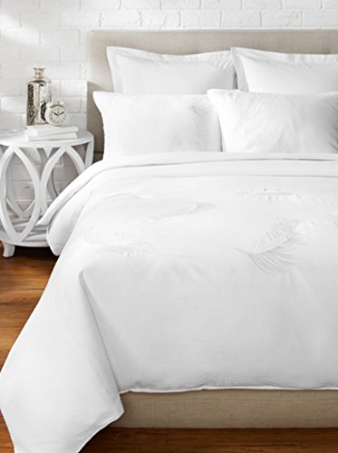 3-teilig Pfau Bettbezug-Set, King Size, Weiß ()