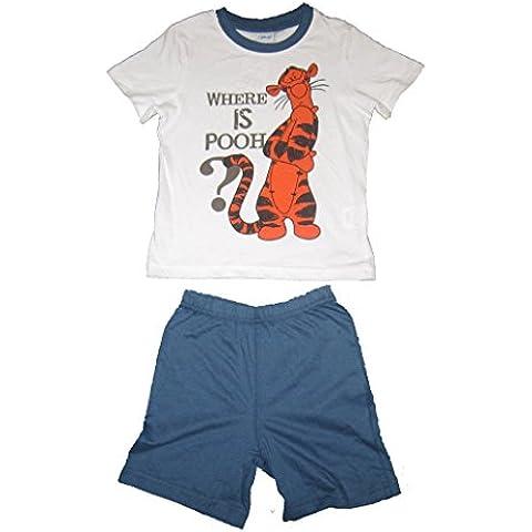 Disney - Pijama dos piezas - para niño azul azul/blanco Small
