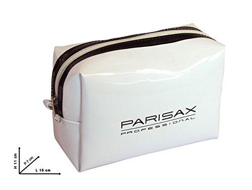 Trousse PVC blanche bord noir Parisax