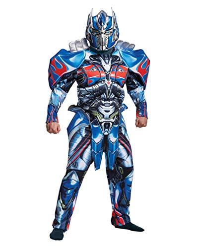 Prime Kostüm Deluxe Optimus - Transformers Optimus Prime Deluxe Muskelkostüm für Herren XL