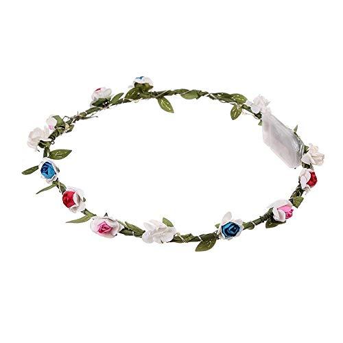 iBàste LED-Blumen-Kranz-Stirnband-Rose-Blumen-Stirnband für Mädchen, die Festival Weihnachtsfeiertagsfest feiern