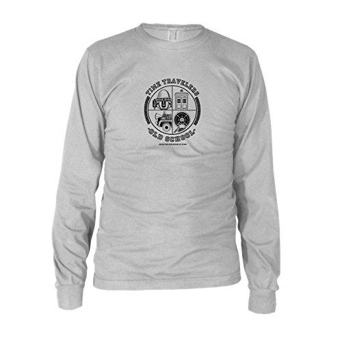 Time Travellers - Herren Langarm T-Shirt, Größe: XXL, Farbe: weiß