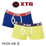 XTG Basico Boxer Doble Pack Blau/Gelb X-Large