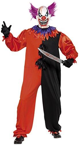 Zirkus Kostüm Sinister - KULTFAKTOR GmbH Cirque Sinister Teuflischer Zirkus Clown Kostüm schwarz-rot-lila L