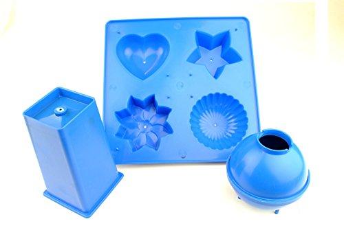 Proops Kerzenform, Herz, Stern, Blume, Kuppel, kugelige und rechteckige Formen, 3-teiliges Set Hergestellt in Großbritannien. S7509