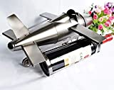 Panier à vin Articles ménagersPorter trois bouteilles de casier à vin de chasseur de vin, décoration de la maison de l'artisanat en métal, plateau de vin d'avions...
