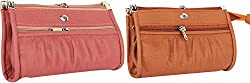 Rapidcostore Women's 2 Clutch Combo Rc-0195 (Pink, Brown,Rc-0010)