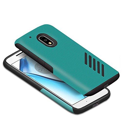 Orzly® Grip-Pro Case für das neue MOTO G4 und G4 PLUS (2016 Lenovo / Motorola Model) Smartphone / Handy - Eine haltbare und superleichte Schutzhülle / Handyhülle / Case / Cover / Handytasche mit zwei getrennten Schichten für besseren Halt und Schutz in Blau/Schwarz
