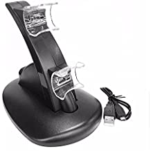 Generic Black LED Light Quick Dual USB Charging Dock Stand Charger For PlayStation 3 For PS3 Controller Console