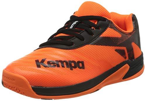 Kempa Unisex-Kinder Wing 2.0 JUNIOR Handballschuhe, Mehrfarbig (Fluo Orange/Schwarz 03), 39 EU