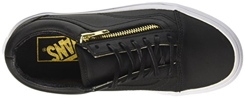 Vans  U Old Skool Zip, Old Skool à fermeture mixte adulte Noir