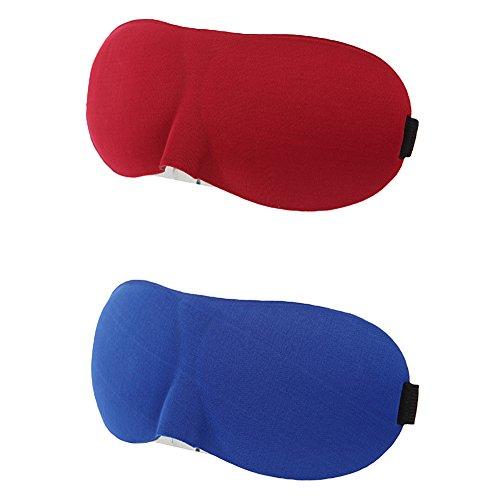 Juleya 3D Hochwertige Schlafmaske Augenmaske mit Gummiband für Herren Damen Kinder, Weich Verstellebar Schlafbrille Augenbinde Für Reise & Zuhause, Leicht Bequem Atmungsaktiv Mask