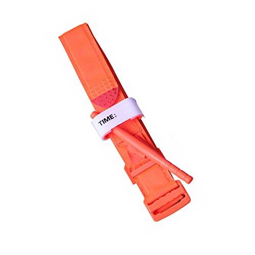 Festnight Spinnende Tourniquet Outdoor Nylon Tourniquet Nylonband Medizinische Taktische Notfallausrüstung Erste-Hilfe-Reaktion für Blutverlust Kontrolle