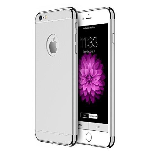 Silber Iphone Sechs (iPhone 6s Hülle, RANVOO 3-Teilige Extra Dünn Hart Slim Thin Hard Case Cover Stylich Hochwertig Schutzhülle Schale Handy Hülle für Apple iPhone 6 & iphone 6s, Silber [3 in 1 Apple Logo sichtbar])