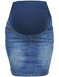 Ohma!Barcelona - Falda tejana color azul claro para mujer embarazada