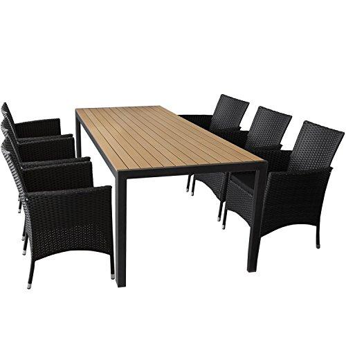 7er Gartenmöbel Set Gartentisch Mit Polywood Tischplatte 205x90cm