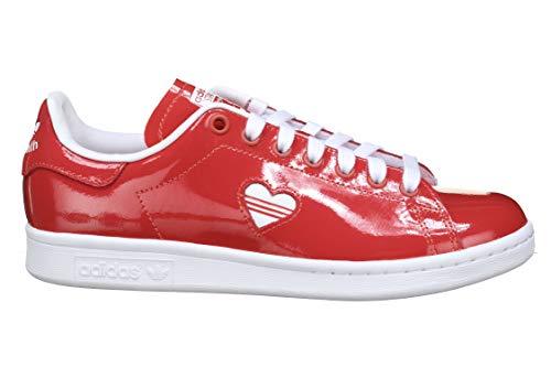 adidas Damen Stan Smith W Sneaker, Rot (Footwear White/Active Red), 38 2/3 EU