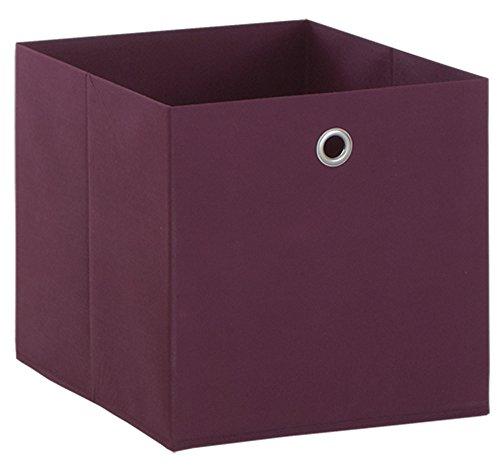 Boîte pliable en intissé coloris Violet , L 32 X H 32 X P 32 cm -PEGANE-
