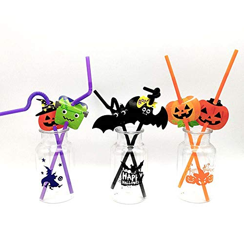(Halloween-Dekoration, Partystraws, Set Von 10)