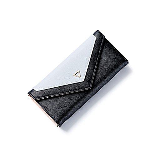 Dairyshop Borsa della del supporto della carta del raccoglitore della frizione della donna (Rosa) Nero