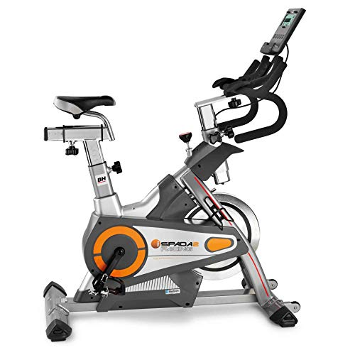 BH Fitness i.SPADA 2 RACING H9356I Indoor Bike - Magnetica e a frizione - Fitness apps - Monitore LCD - Prg Watts