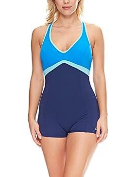 Zoggs Noosa Legsuit - Body de competición para mujer, color azul oscuro, talla 32 Inch/Size 8