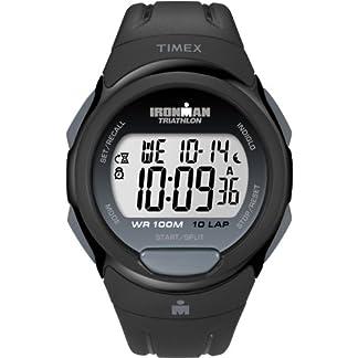 Timex T5K608 – Reloj de Pulsera para Hombres, Correa de Resina, Color Negro