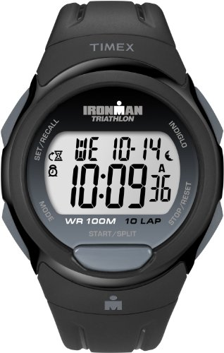 Timex Damen-Armbanduhr Ironman 10 Lap Digital Plastik T5K608SU - 16mm Timex Band Watch