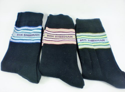 ben-sherman-3pk-mens-socks-uk-7-11-black-with-colour-band-stripes