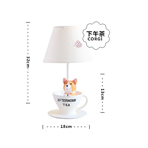 Un idílico Creative Cartoon habitación Niños decoradas en cálidos y el jefe de la mesa de luz dormitorio poco luces nocturnas , regalo de cumpleaños para el té de la tarde lámparas de mesa