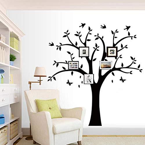 Shangfan Familie Foto Baum Wand Aufkleber Aufkleber Wohnzimmer Home Aufkleber Bett Kinderzimmer Wandtattoos, Speicher Baum und Vögel, Wandaufklebern, Schmetterling (Familie Baum-wand-aufkleber)