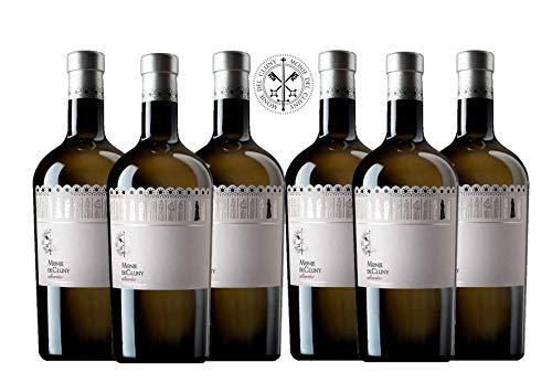 Monje Del Cluny Vino Blanco - Albariño Rias Baixas - Criado Sobre Lías - Producto Gourmet - Vino Colección - Vino Bueno Para Regalo - Caja De Vino - Vino Premium - 6 Botellas X 75cl