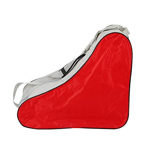 SENDILI Skate Bag - Dauerhaft Schlittschuhe Tasche für Erwachsene zum Rollschuhen Inlineskates, Rot, 42 * 20 * 39cm