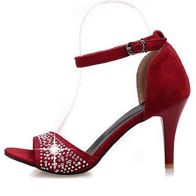 LvYuan Da donna-Sandali-Formale Casual Serata e festa-Innovativo Club Shoes-A stiletto-Velluto-Nero Verde Rosso Black