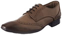 Knotty Derby Mens Arthur Wing Cap Brogue Beige Formal Shoes - 6 UK/India (40 EU)