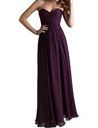 Gorgeous Bride Beliebt Rabatte Herz-Ausschnitte A-Linie Lang Chiffon Abendkleid Festkleid Ballkleid