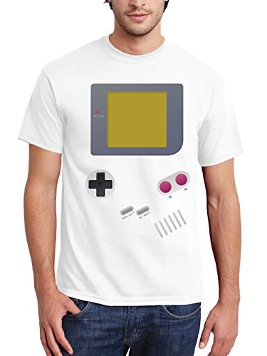 clothinx Herren T-Shirt Handheld Weiß Gr. - Game Boy Color Kostüm