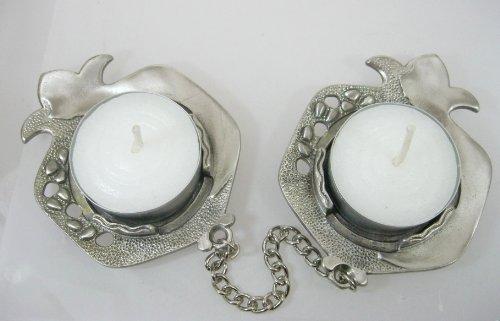 Candelabros, candelabros de viaje del estaño, regalo ideal, tiene dos velas de té, ideal para familias con personas de viaje