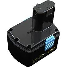 Mitsuru® 3000mAh Ni-MH 14,4V batería para Hitachi Serie DS14DVF3 DS18DMR DS18DVC recambio Hitachi 315128 315129 315130 319104 319933 324367 EB1412S EB1414 EB1414L EB1414S EB1420RS EB1424 EB1426H EB1430H EB1430R EB1430X EB14B EB14H EB14S
